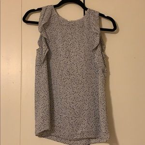 H&M white and black spotted tank top